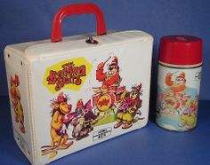The Banana Splits Vintage Lunch Box & Thermos (Old Antique 1969 Vinyl Lunchbox)