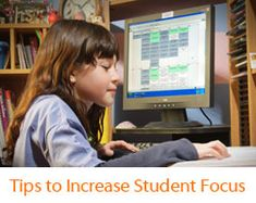 """Tips to Increase Student Focus"" from Connections Academy online school. #onlinelearning #motivation #focus"