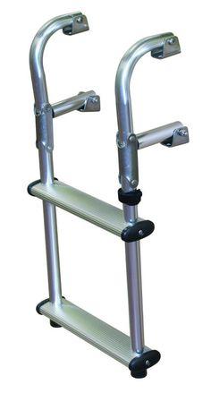 JIF - EPU2 ~ COMPACT 2-STEP TRANSOM LADDER [EPU2] - $72.83 : Boat Ladders - Pontoon Boat Ladder - Dock Ladders for Less, Boat-Ladders-Store.com