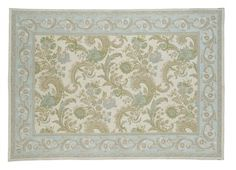 Baroque Traditional Duck Egg Cotton and Wool Rug (my favourite of the rugs - but more expensive at £200 for 120 x 180)