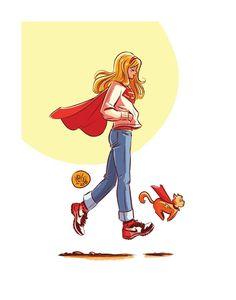 Cat Comics, Archie Comics, Supergirl Dc, Batgirl, Comic Books Art, Book Art, Deadpool Art, Legion Of Superheroes, Cat Store