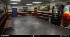 ArtStation - Corridor Swimming pool - LIFE IS STRANGE, Gary jamroz-palma