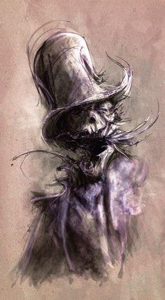The Art of Arnaud de Vallois Arte Horror, Horror Art, Creepy Art, Scary, Monster Pictures, Dark Drawings, Halloween Horror, Halloween Masks, Dark Fantasy Art