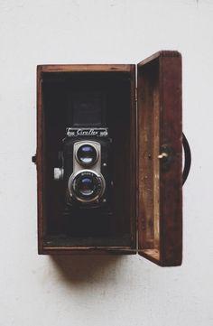 Wooden box #camera #vintage