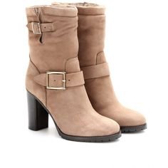 Jimmy Choo Dart Suede Boots With Shearling found on Polyvore