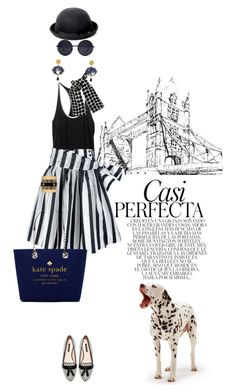Black, white and blue by pensivepeacock on Polyvore featuring polyvore mode style rag & bone Pauw Zara Kate Spade Anna e Alex Balenciaga Principles by Ben de Lisi Whiteley fashion clothing