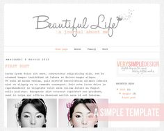 Simple Premade Blogger template with an by VerySimpleDesign, $10.00