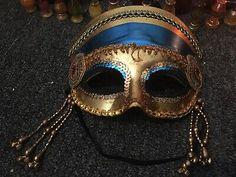 Party //Halloween Night Sparkly Black D.K  Balaclava Hand Made Mens Fun