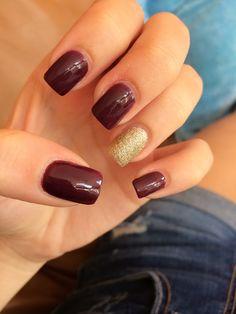 Maroon and gold nails.... alumni weekend?!?