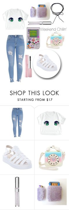 """""""Weekend chillin' 🎮"""" by witchousenova ❤ liked on Polyvore featuring Lipstik, Betsey Johnson and Chantecaille"""