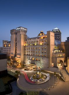 Located in the vibrant heart of Sandton Jhb, Michelangelo Hotel and Suites Michelangelo Hotel, Hotel Architecture, Steam Room, Concrete Jungle, Travel Bugs, Beautiful Places To Visit, 5 Star Hotels, All Modern, South Africa