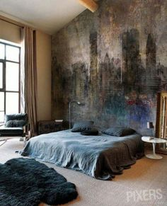 55 Appealing And Smooth Manly Bedroom Design Tips - Decor Fah & 25 Stylish Industrial Bedroom Design Ideas | Pinterest | Industrial ...