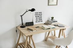 Feng Shui is a great way to bring harmony, peace, and serenity into your home. Today we give you seven quick and easy feng shui tips to create a positive environment in and around your home. Wooden Desk, Wooden Tables, Lampe Art Deco, Decoration Ikea, Feng Shui Tips, Shipping Container Homes, Hobby Lobby, Office Decor, Desk Office