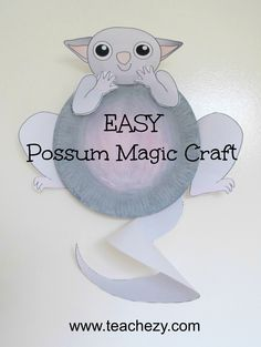 Easy Possum-Possum Magic craft for kids. A gteat activity to do whilst reading the wonderful Possum Magic book by Mem Fox. www.teachezy.com