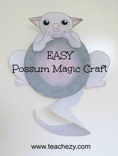 Easy Possum-Possum Magic craft for kids. A gteat activity to do whilst reading the wonderful Possum Magic book by Mem Fox. www.teachezy.com