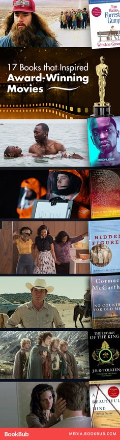Looking for your next read? Check out these 17 books that inspired award-winning movies.