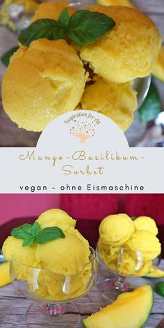 Mango Sorbet, Veggie Food, Veggie Recipes, Diy Food, Gelato, Summer Vibes, Camembert Cheese, Veggies, Inspiration