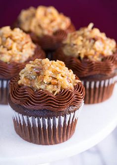 German Chocolate Cupcakes by Cooking Classy