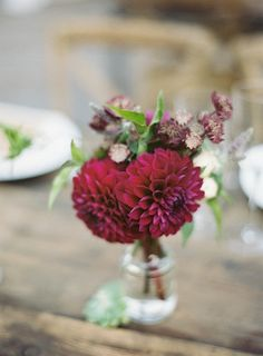 Creates lovely arrangements: http://www.stylemepretty.com/2014/12/11/pantone-2015-marsala-wedding-inspiration/