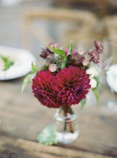 Creates lovely arrangements: http://www.stylemepretty.com/2014/12/11/pantone-2015-marsala-wedding-inspiration/