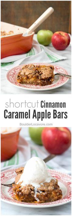 Shortcut Cinnamon Caramel Apple Bars | Boulder Locavore