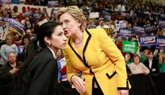 "Huma Abedin, who has been at Hillary Rodham Clinton's side as her personal assistant or ""body woman"" since the 2008 presidential race, faced criticism for standing by her husband, former Rep. Anthony Weiner, after sexting scandals that damaged his political career. She now has to defend her own actions with the Clinton Foundation and the State Department email scandal. (Associated Press)"