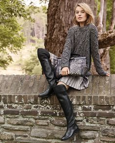 Metallic touches give a luxurious feel to easy fall classics | Tory Burch Fall 2014
