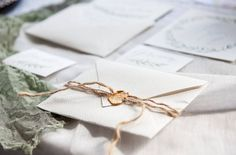 Hand made envelope with a wax stamp item