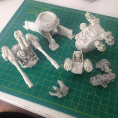 Some of the upcoming releases - new weapons, turrets and base for turrets. All models will be available as separate models.