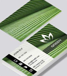 Modern contemporary business card design -Green Thumb business card design