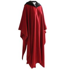 6a94aef5e938 70s Yves Saint Laurent Wool Cape with Black Velvet Hood Rare New Old Stock  Sz 38