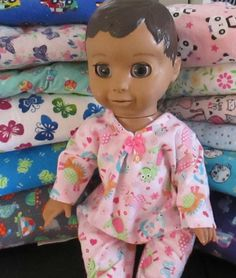 "15/"" Bitty Baby Tie dye dogs puppy sleeper pajamas boy//girl Doll Clothes outfit"