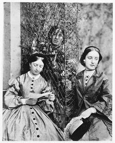 Through the trellis,  by David Octavius Hill,  ca 1861