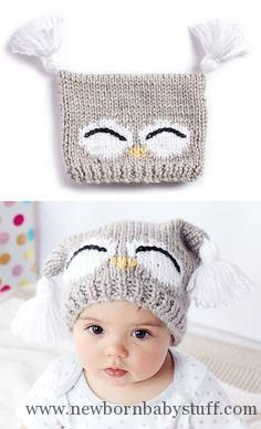 Baby Knitting Patterns Free Knitting Pattern for I'm a Hoot Hat - This pattern ...