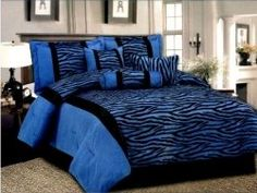 7pcs flocking comforter set buy comforter set with matching curtainsnavy blue comforter setsfaux fur comforter set product on alibabacom - Blue Bedroom Ideas For Adults