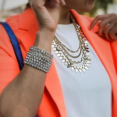 Bunch of Bling Stretch Bracelets and Cleopatra Necklace #TraciLynnJewelry