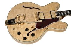 Gibson Custom Shop Electric Guitar ES-355 Curly Maple Antique Natural with Bigsby