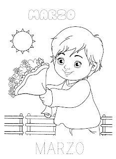 La maestra Linda : I mesi dell'anno Past, Weather, Seasons, School, L2, Winter Time, Toddler Girls, Ideas, March