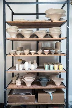 Ceramic artist Isabel Halley occupies a sunny corner of New Clay Studios in Carroll Gardens, Brooklyn, which retains the soulful details of its turn-of-the-20th-century beginnings as an apple distribu