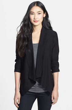 Eileen Fisher Shawl Collar Drape Front Jacket (Petite) available at #Nordstrom