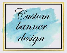Custom banner and avatar design for Etsy Website or