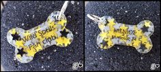 Starry Bone Dog Tag  Custom Colors  by GabriellesCreations on Etsy #handmade #personalized #dogtag