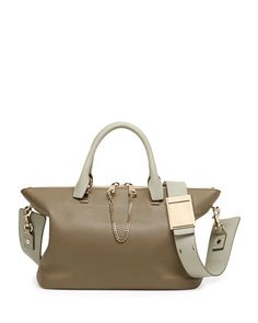 Baylee Shoulder Bag, Gray by Chloe at Neiman Marcus.