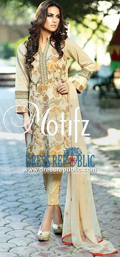 Designer Embroidered Lawn Dresses 2015 For Summer By Motifz