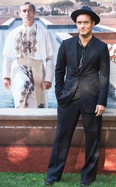 Jude Law from The Big Picture: Today's Hot Pics  The actor is spotted looking saintly at The Young Pope photocall in Madrid, Spain.