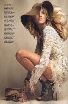 Patrick Demarchelier shooting for Vogue Spain - love the look