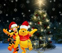 Pooh and Tigger All Things Christmas, Christmas Time, Merry Christmas, Christmas Ornaments, Pooh Bear, Tigger, Bowser, Winnie The Pooh, Nerdy