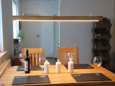 Hängelampen - Hängelampe Eiche-hell, geölt, High-LEDs warmweiß - ein Designerstück von PeKa-Ideen bei DaWanda