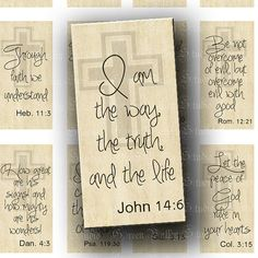 Digital Images Collage Sheet Beautiful Bible Quotes by greenvalley, $3.50