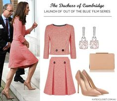 Duchess Kate in Eponine repeat for 'Out of the Blue' film series launch. Estilo Kate Middleton, Kate Middleton Style, Kate Dress, Royal Fashion, Duchess Of Cambridge, Pretty Outfits, Latest Fashion Trends, Dress To Impress, Royals